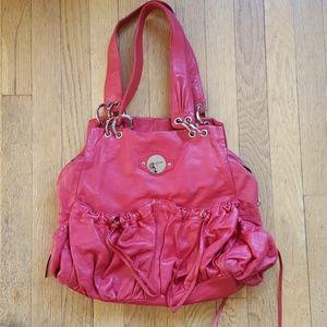 Junior Drake red handbag with tassels